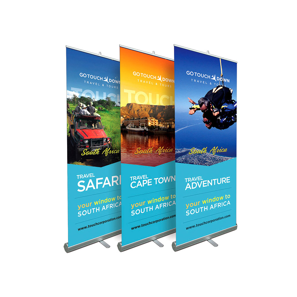Stand Up Banner Designs : Roll it up retractable display products accenta