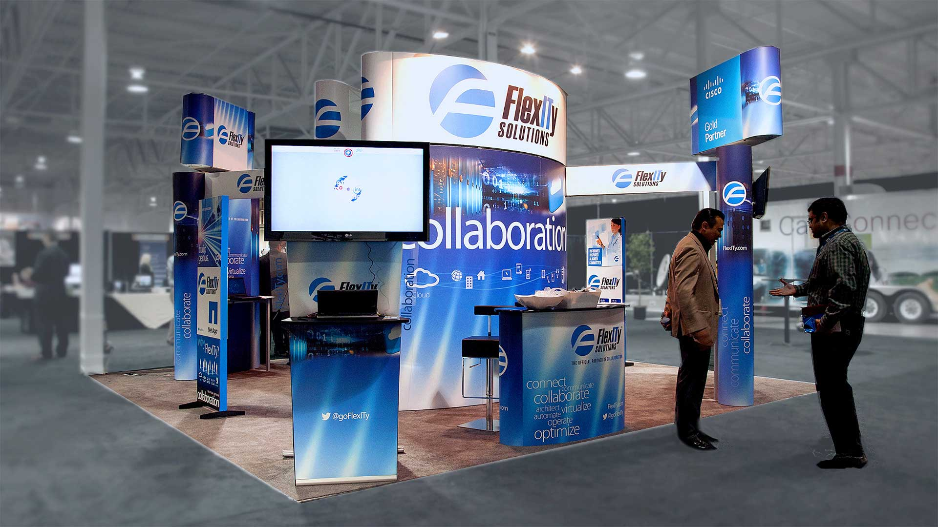 Trade Event Stands : Trade show exhibits booths displays and banner stands